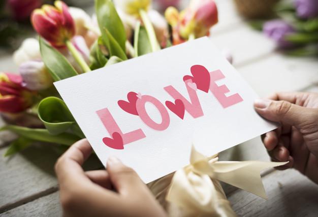 romantisk valentinskort